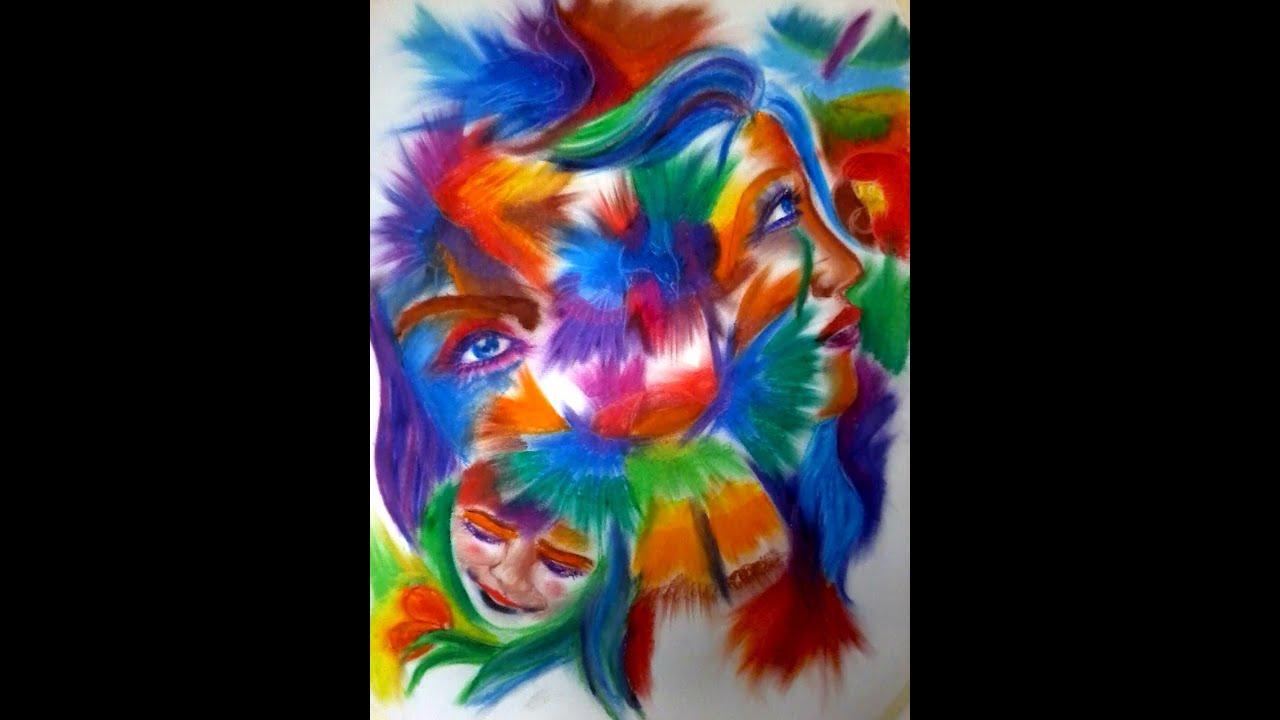 Abstract oil pastel drawing - Sedera Ramanitra - YouTube