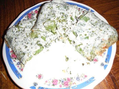 Творожная запеканка с брокколи в микроволнвке