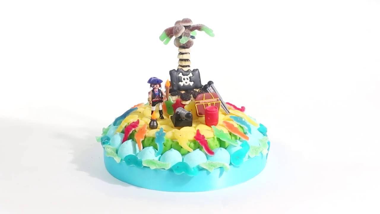 Gateau de bonbon bateau pirate