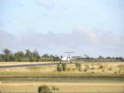 Pair Of Skytrans Airlines Dash-8-100 Aircraft Take Off Clermont Aerodrome