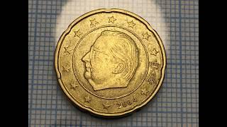 Belgium 20 euro cent 2004 Defects