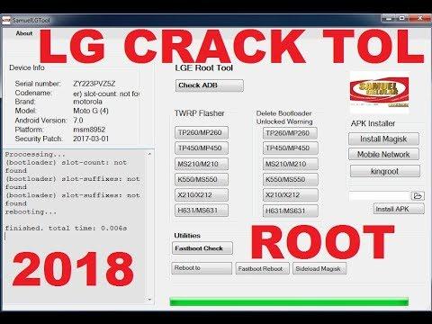 LG ROOT TOOL Crack Tool 2018