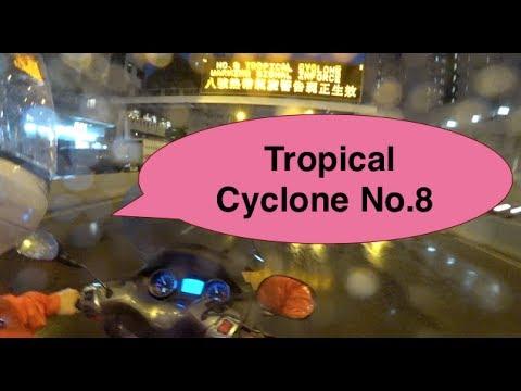"""Motor vlogging with tropical cyclone ""Merbok"" Signal 8"