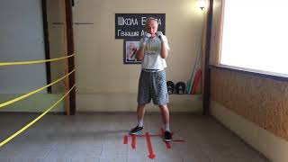 Школа бокса Геннадия Аношкина. Урок 25: работа стоп ног в боксе.