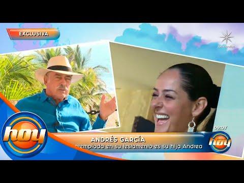 Andrés García revela por qué desheredó a su hija Andrea García | Hoy