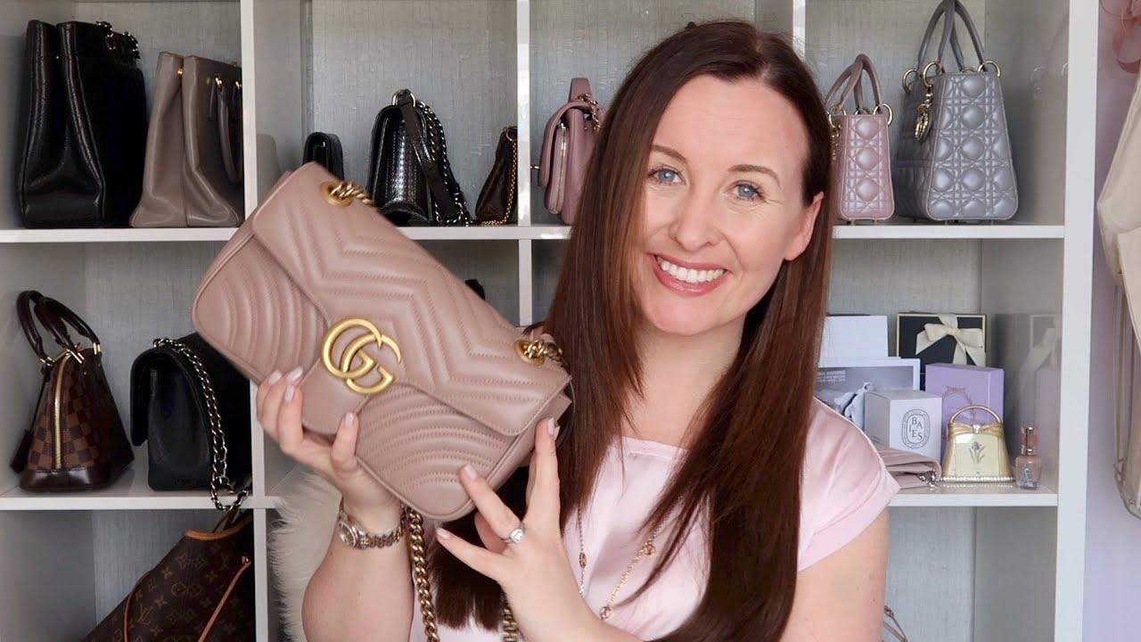 5af6cdfc3c0c Gucci Marmont Flap Bag Review - YouTube