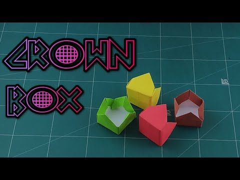 How to Make A Crown Box Tutorial - Easy Origami Paper Box | DIY Paper Craft Ideas