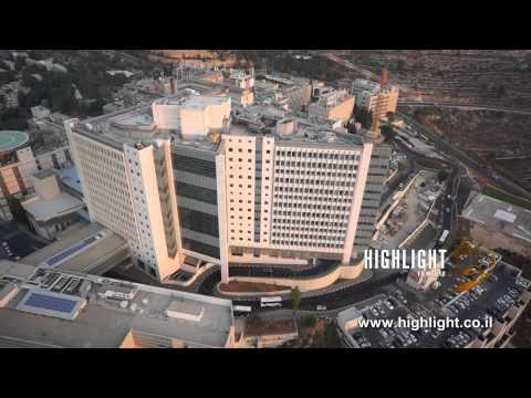 DC010B Israel aerial stock footage: Aerial footage of Jerusalem Har Hotzvim industrial park.