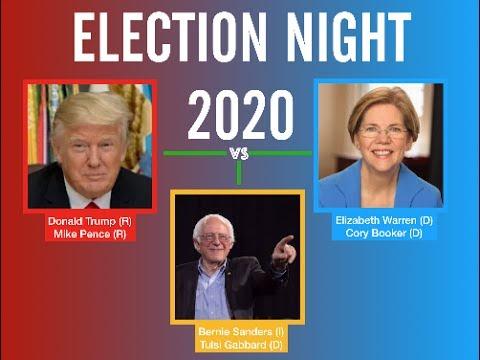 election night  donald trump   bernie sanders   elizabeth warren  youtube
