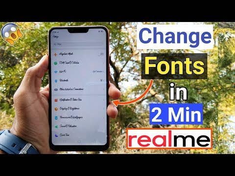 How To Change Fonts in RealMe Devices (So Simple) All RealMe Mobiles