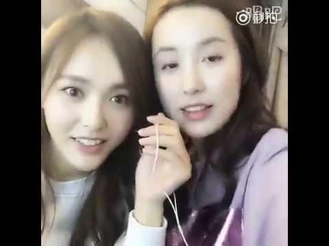 """唐嫣吕一微博首秀歌喉 Tang Yan, Lv Yi singing  """"姐姐妹妹站起来"""""""