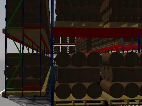 Rack selectivo para rollos de tela youtube for Accesorios para lonas y toldos