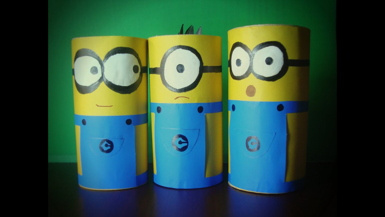 make minions with paper roll youtube. Black Bedroom Furniture Sets. Home Design Ideas