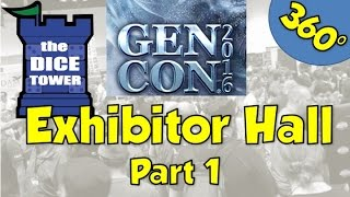 360° Dice Tower Walkthrough - Exhibitor's Hall Gen Con 2016 - Part 1