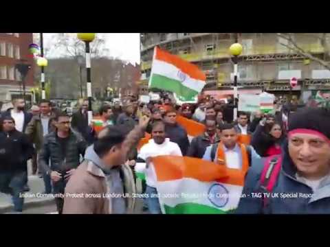Indian Community Protest Across UK Streets & Outside Pak High Commission - TAG TV UK Report