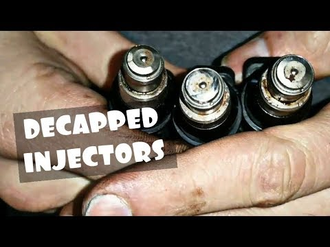 TWO WAYS TO DECAP FUEL INJECTORS!!! EASY AND WITH BASIC TOOLS!!! Budget LS  LSX Subaru