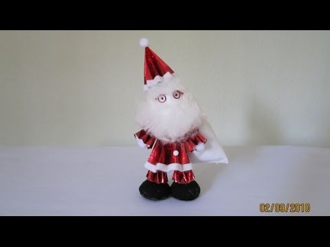 Papercraft TUTORIAL - How to make 3-D Paper Doll (Santa Claus)