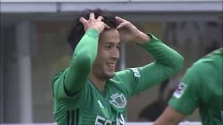 カウンターから右サイドを駆け上がった前田 直輝(松本)が左足でゴール...