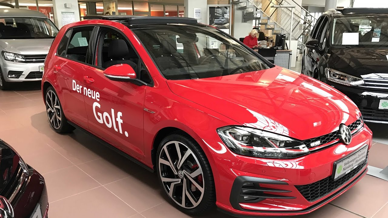 The New Golf 7 Gti Facelift 2017 Tornado Red Colour
