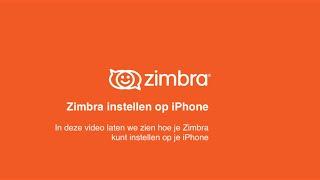 Zimbra Tips & Tricks - Zimbra instellen op iPhone