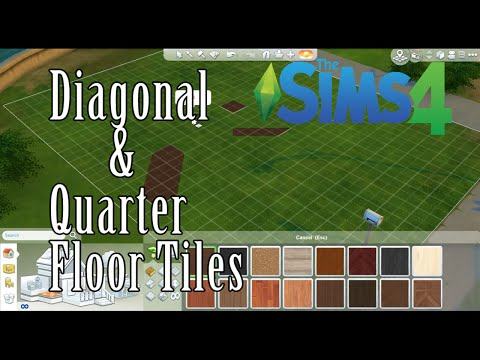 SIMS 4 How To: Diagonal & Quarter Floor Tiles