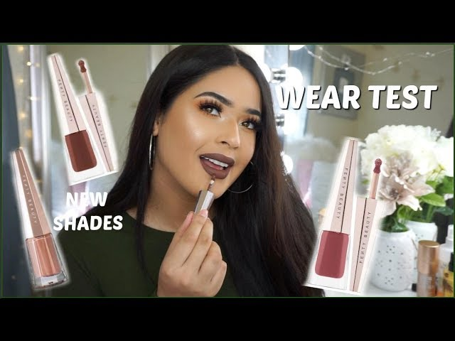 NEW FENTY BEAUTY STUNNA LIP PAINT in UNBUTTON, UNCUFFED, & UNVEIL | Swatches + Wear Test |Taisha