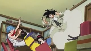 Goku does his best Kool Aid Man impersonation (English Dub)