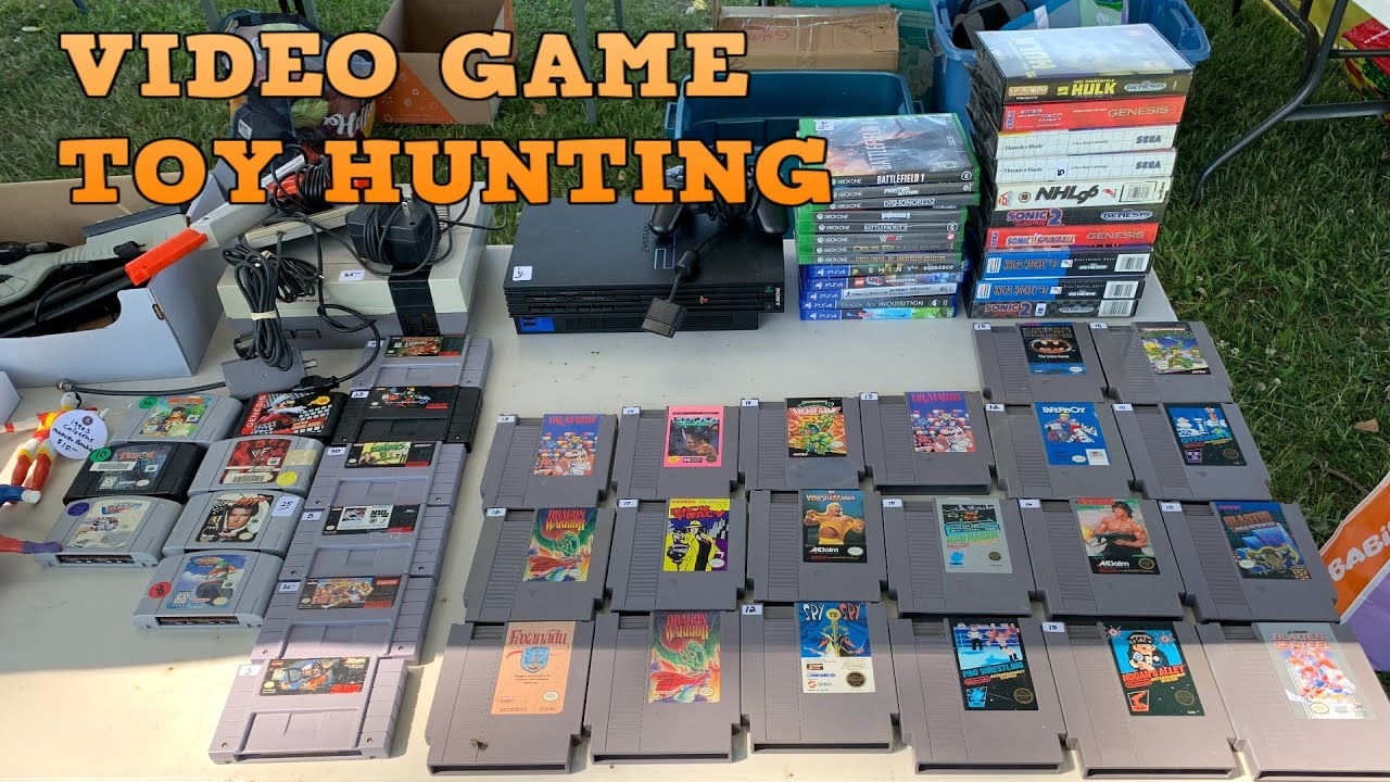 VIDEO GAME/TOY HUNTING| Yard sales, Flea markets, and Toys R us oh my!