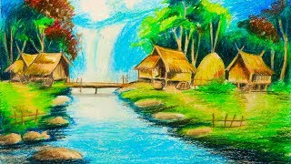 Gambar cover How to Draw Beautiful Village Scenery Drawing step by step | Drawing Buzz
