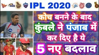 IPL 2020 - List Of 5 Big Changes in KXIP By New Coach Kumble | IPL Auction | MY Cricket Production