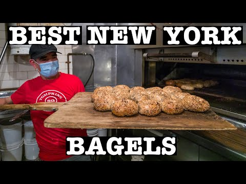BEST NEW YORK BAGEL & HOW TO MAKE HAND-ROLLED BAGELS