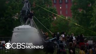 Protesters clash with D.C. police as they attempt to topple statue of Andrew Jackson
