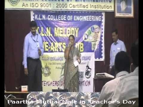 Paartha Muthalnaale Sung By Dr.A.Kannan, KLNCE During Se''2009