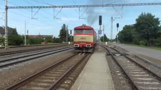 749.162-4 IDS Cargo po přetahu vlaku 1353 LEO Express odjíždí směr Olomouc