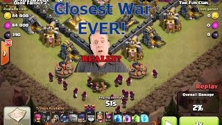 Clash of Clans - WORLDS Closest Clan War Ever?! + Last Moment Attacks