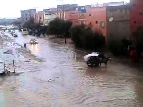فيضانات اليوسفية حي الزلاقة youssoufia