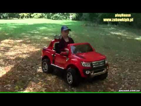 Детский электромобиль Джип M 2764 RS-3 Ford Ranger, автопокраска, красный - дисней.com.ua