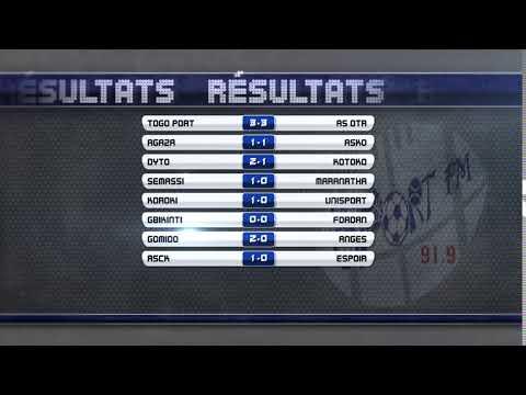 SPORTFM TV - RESULTATS DES MATCHS DE D1 DU WEEK-END (D19)