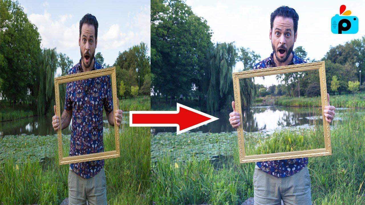 Create a See Through Frame Effect | Picsart Editing Tutorial | Brand ...