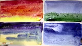 DrawFox. Акварельная живопись для начинающих. 2-1. Использование соли в акварели.
