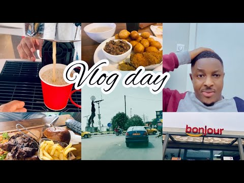 VLOG: SPEND THE DAY WITH ME, LETS VIEW DOUALA,CAMEROON. EATING OUT, CUTTING MY HAIR, ETC.