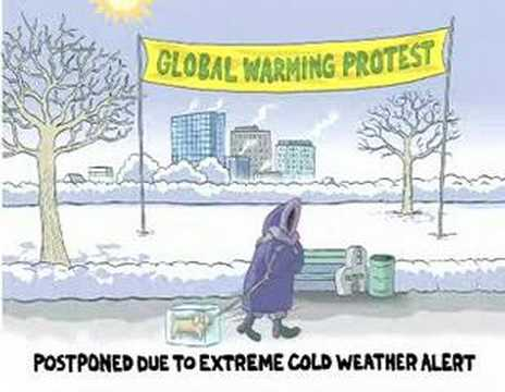 Global Warming Protest...in The Dead Of Winter