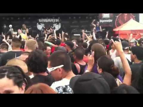 Unearth in Mayhem Music Festival Albuquerque Summer 2011