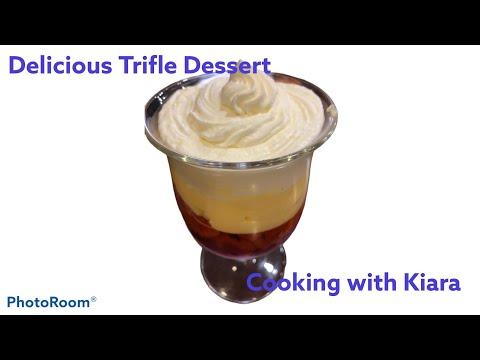 Incredible trifle and homemade custard recipe! Cooking with Kiara #7