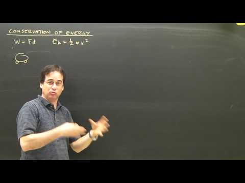 Kinetic Energy and Work Physics Lesson Conservation Part 1