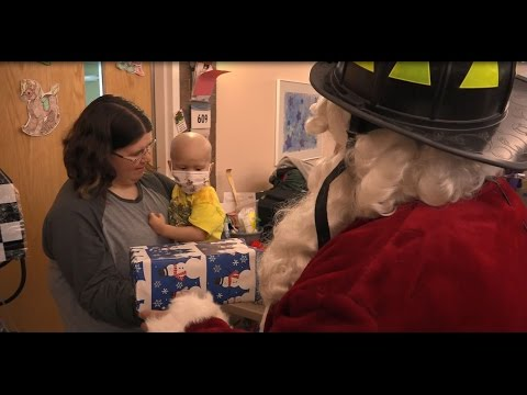 Omaha Firefighters and Santa Deliver Holiday Cheer