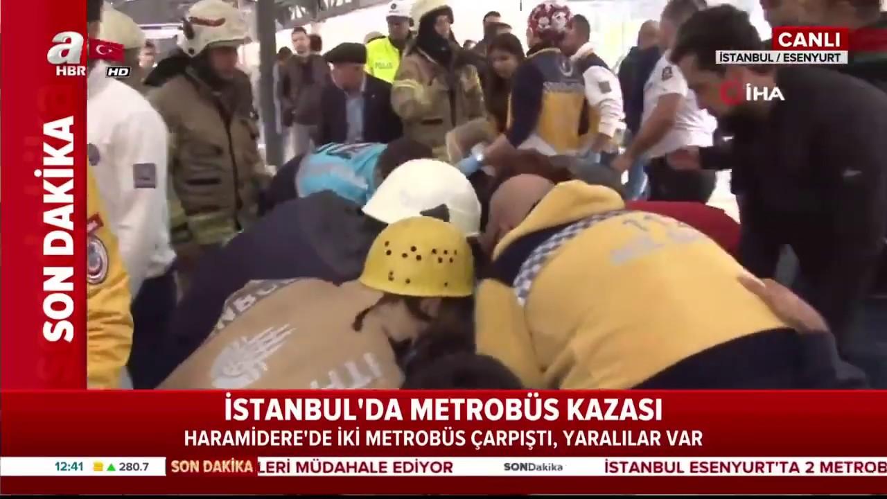 Son Dakika: İstanbul'da Metrobüs Kazası! Yaralılar Var! / A Haber