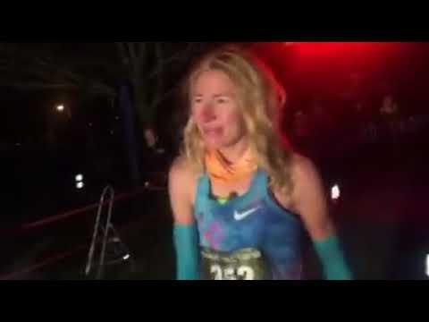 Camille Herron- 2017 Tunnel Hill 100 finish