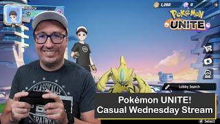 Pokémon UNITE on Nintendo Switch, Streaming on a Wednesday