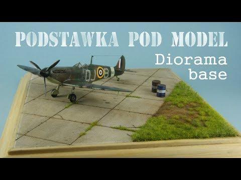 Podstawka pod model (diorama base) - jak zrobić.
